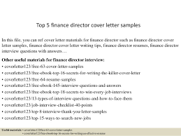 Free Cover Letter Examples Top 5 Finance Director Cover Letter Samples