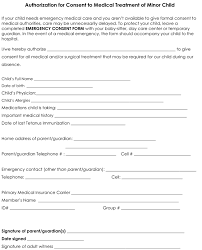 Medical Consent Form A Medical Consent Form Template Is A Template New Printable Medical Release Form For Children