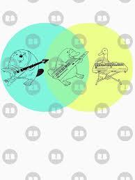 nerd geek dork venn diagram keytar platypus venn diagram unisex t shirt a t shirt of