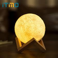 12cm 15cm rechargeable moon light lamp 2 color change touch switch night light venim world