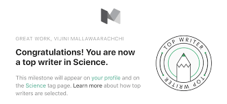 being among the top writers in science a token of gratitude