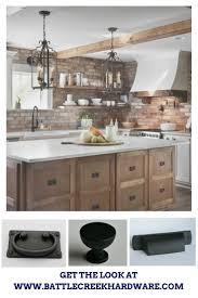Kitchen Design By Fixer Upper Magnolia Joanna Gaines Black Cup Pulls