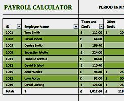 Microsoft Payroll Templates Microsoft Excel 2013 Free Payroll Templates Exceldl