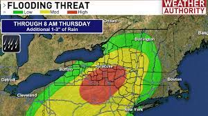 1 day ago · the national weather service has issued a flash flood watch for 19 of new jersey's 21 counties, saying rain showers and thunderstorms on friday and saturday could drop as much as 3 to 5 inches. Flash Flood Watch In Effect For Central New York Wstm