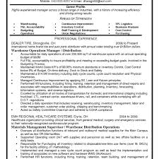Collection Manager Resume Warehouse Operations Manager Resume Best Template Collection 5