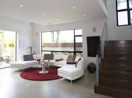Beauteous Glossy Round With Curved Sofa For Area Rug Plus Living Room Mixed Together Brown