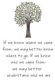 best family history quotes family tree quotes do you know where you came from this would make a nice