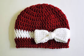 Baby Hat Pattern Gorgeous Free Pattern Crochet Bow And Ribbon Baby Hat Classy Crochet