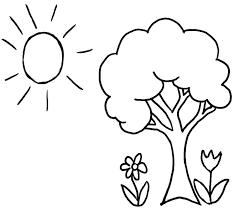 50 bức tranh tô màu cây xanh đơn giản cho bé mầm non - Zicxa books
