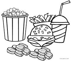 Food Coloring Sheet Healthy Page Health Nutrition For Kids Groups