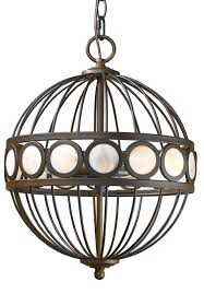 aria oil rubbed bronze globe chandelier mother of pearl accents 12 wx16 h