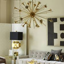 Chandeliers Design:Fabulous Small Sputnik Chandelier Mid Century Modern  Schonbek Crystal Brass Starburst Gold Satellite
