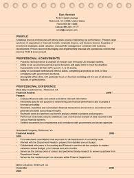 4 Financial Analyst Resume Examples Ms Word Format