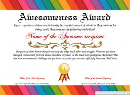 Certificate Of Awesomeness Template Awesomeness Award Free Certificate Templates You Can Add Text
