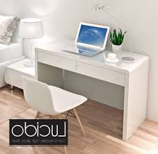 contemporary modern white high gloss dressing table glossy desk with regard to white gloss