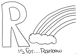 Small Picture Free Alphabet Coloring Pages Rainbow Alphabet Coloring pages of