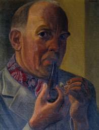 'Self-Portrait Wearing a Cap', William Roberts | Tate - T03075_8