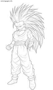 Goku Super Saiyan 3 Coloring Pages Coloring Pages Pinterest Cols