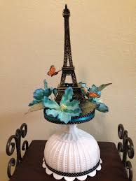 Eiffel Tower Decoration Eiffel Tower Centerpiece With Butterflies And Flowers For A