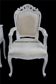dressing table chair with arms. chateau french style ornate white chair ..dining, desk, dressing table or occasional with arms a