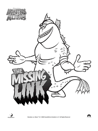 Kleurplaat Monsters Vs Aliens The Missing Link Kleurplatennl