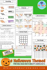 Halloween Themed Free Printable No Prep Math Counting Concepts ...