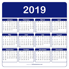 Microsoft Calendar Templates Adobe Illustrator Calendar Template 2019 Calendar Design