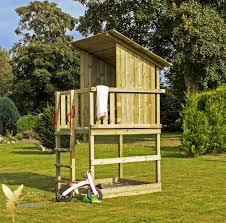 Woodinis Spielturm Holz Spielhaus Raven Mit Sandkasten
