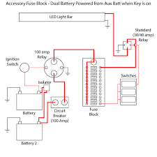 acc fuse block install polaris rzr forum rzr forums net i have created a very basic wiring diagram for the above install and also one to illustrate how a dual battery setup might look