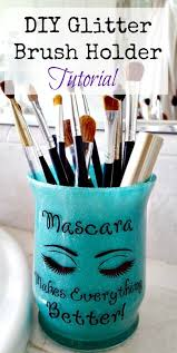 28 brilliantly easy diy makeup storage ideas you need to make now makeup brush holders gl votive and brush holders