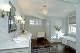 modern crystal chandelier bathroom within small for easywash club