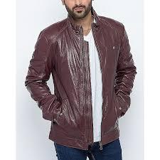 purple leather jacket for men armj 025