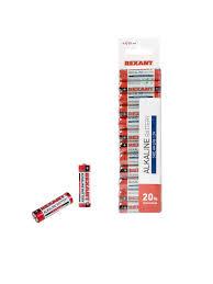 Алкалиновая <b>батарейка AA</b>/LR6 1,5 V, 12 шт. Rexant 7907984 в ...