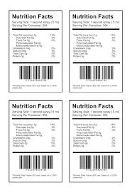 nutrition facts label maker food label canadian nutrition facts label maker