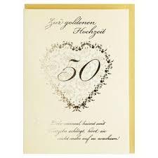 Glückwunschkarte Zur Goldenen Hochzeit 50 Hochzeitstag Creme Gold Mi