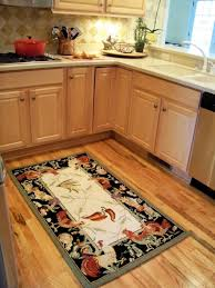 simple black border kitchen rugs with en theme and red pepper
