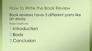 how to do a book review ppt video online 4 how to write