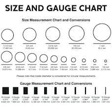Gauge Chart Actual Size Gauge Measuring Chart Fuvein Com Co