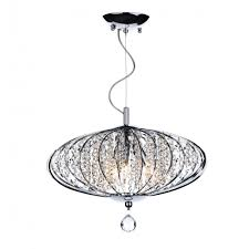 adriatic chrome and glass high ceiling pendant
