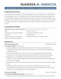 Nurse Educator Resume Best Clinical Nurse Educator Resumes Resumehelp