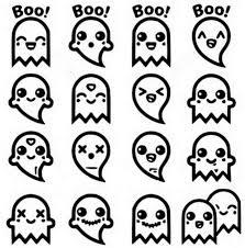 Disegno Da Colorare Kawaii Fantasmi 9