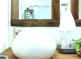 wood framed mirrors. Medium Size Of Amazing Reclaimed Wood Bathroom Mirror For Rustic Decor Ideas Distressed Framed Mirrors Fr