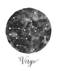 Virgo Constellation Illustration Vertical Amy Rogstad Fercute