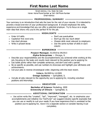 Traditional Resume Format Resume Template Sample
