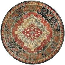 rugs transitional red round area rug for living room