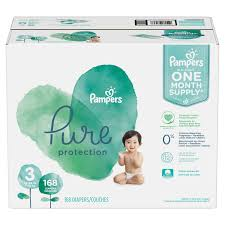 Pampers Pure Protection Diapers Size 3 168 Count Walmart Com