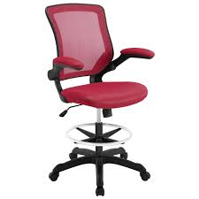 office drafting chair. Modway Veer Drafting Chair EEI-1423-RED | 848387029418| $118.75. Office Chairs