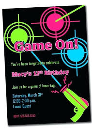 Free Laser Tag Invitation Template Amazing Laser Tag Birthday Invitations Which Can Be Used As Free