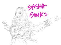 Sketch Dump Sasha Banks By Thenoodlerebel On Deviantart