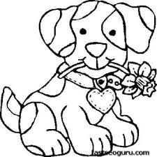 Small Picture Amusing Coloring Pages For Kids To Print Free Print Out Dog